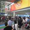 Arriving in Beijing at the airport for Olympics