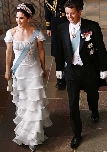 Princess Mary and Prince Frederick of Denmark run into Blanks